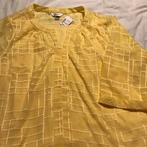 Christopher and Banks yellow 3/4 sleeve with tank